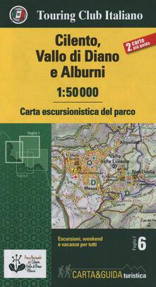 Cilento, Vallo di Diano e Alburni 1:50.000. Carta escursionistica del parco. Con Libro: Guida del parco - copertina