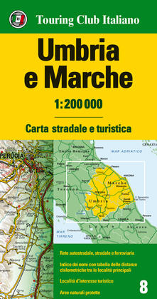 Ristorantezintonio.it Umbria, Marche 1:200.000. Ediz. multilingue Image