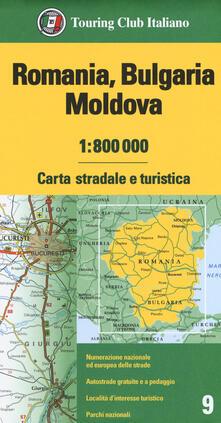 Voluntariadobaleares2014.es Romania. Bulgaria. Moldavia 1:800.000. Carta stradale e turistica Image