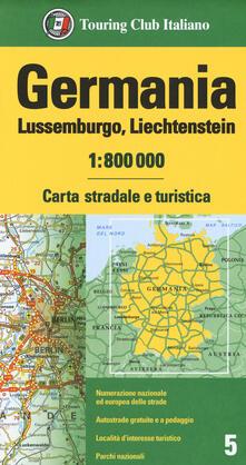Milanospringparade.it Germania, Lussemburgo, Liechtenstein 1:800.000. Carta stradale e turistica Image