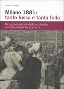 Milano 1881: tanto lusso e tanta folla. Rappresentazione della modernità e modernizzazione popolare