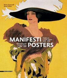 Manifesti. Pubblicità e moda italiana 1890-1950. Ediz. italiana e inglese - Dario Cimorelli,Anna Villari - copertina