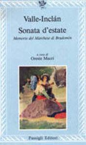 Libro Sonata d'estate. Memorie del marchese di Bradomín Ramón del Valle-Inclán
