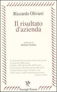 Foto Cover di Il risultato d'azienda, Libro di Riccardo Olivieri, edito da Passigli