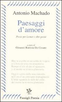 Image of Paesaggi d'amore. Poesie per Leonor e altre poesie. Testo spagnolo a fronte