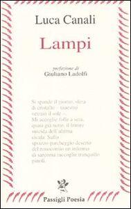 Foto Cover di Lampi, Libro di Luca Canali, edito da Passigli