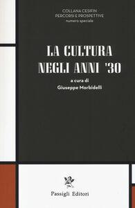 Libro La cultura negli anni '30