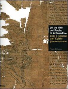 Foto Cover di Le tre vite del papiro di Artemidoro. Voci e sguardi dall'Egitto greco-romano. Catalogo della mostra (Torino, 8 febbraio-7 maggio 2006), Libro di  edito da Mondadori Electa