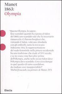 Libro Manet 1863: Olympia Serena Romano