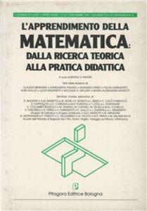 Foto Cover di L' apprendimento della matematica: dalla ricerca teorica alla pratica didattica, Libro di  edito da Pitagora