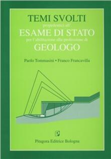 Rallydeicolliscaligeri.it Temi svolti propedeutici all'esame di Stato per l'abilitazione alla professione di geologo Image