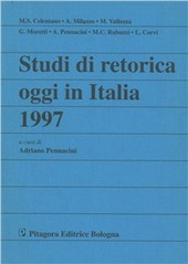 Studi di retorica oggi in Italia 1997