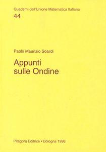 Libro Appunti sulle ondine Paolo M. Soardi