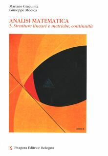 Analisi matematica. Vol. 3: Strutture lineari e metriche, continuità..pdf