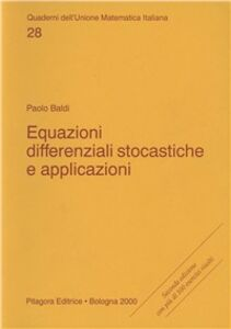 Libro Equazioni differenziali stocastiche e applicazioni Paolo Baldi