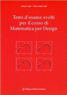 Winniearcher.com Temi d'esame svolti per il corso di matematica per il design Image