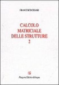 Calcolo matriciale delle strutture. Vol. 2