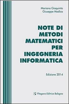 Ristorantezintonio.it Note di metodi matematici per ingegneria informatica Image