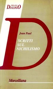 Libro Scritti sul nichilismo Jean Paul