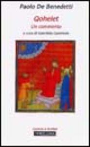 Libro Qohelet Paolo De Benedetti