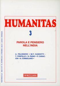 Humanitas (2006). Vol. 3: Parola e pensiero nell'India.