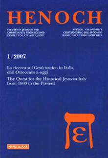 Parcoarenas.it Henoch (2007). Vol. 1: La ricerca sul Gesù storico in Italia dall'Ottocento a oggi. Image