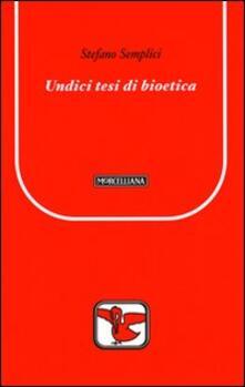 Winniearcher.com Undici tesi di bioetica Image