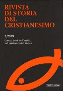 Promoartpalermo.it Rivista di storia del cristianesimo (2009). Vol. 2: Le costruzioni dell'eresia nel cristianesimo antico. Image
