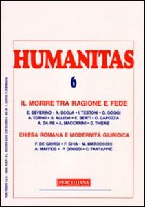 Libro Humanitas (2009). Vol. 5: Il morire tra ragione e fede. Chiesa romana e modernità.