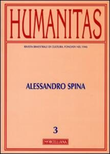 Humanitas (2010). Vol. 3: Alessandro Spina.
