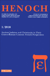 Henoch (2010). Vol. 1: Ancient Judaism and Christianity in Their Graeco-Roman Context: French Perspectives.