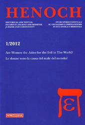 Henoch (2012). Vol. 1: First-century Jewish apocalypticism-L'Apocalittica giudaica del primo secolo.