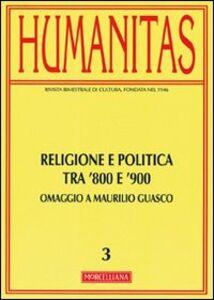 Libro Humanitas. Vol. 3: Religione e politica tra Otto e Novecento.