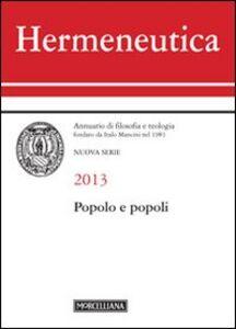 Libro Hermeneutica. Annuario di filosofia e teologia (2013). Popolo e popoli