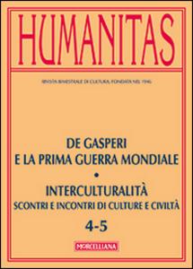 Libro Humanitas (2014). Vol. 5: De Gasperi e la prima guerra mondiale. Interculturalità. Scontri e incontri di culture e civiltà.
