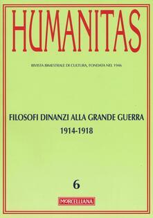 Antondemarirreguera.es Humanitas (2015). Vol. 6: Filosofi dinanzi alla grande guerra 1914-1918. Image