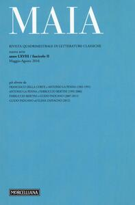 Maia. Rivista di letterature classiche. Vol. 2