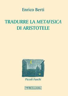 Librisulrazzismo.it Tradurre la «Metafisica» di Aristotele Image