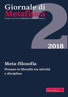 Associazionelabirinto.it Giornale di metafisica (2018). Vol. 2: Meta-filosofia. Image