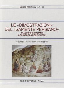 Libro Le dimostrazioni del sapiente persiano Francesco S. Pericoli Ridolfini