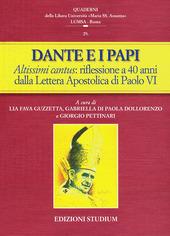 Dante e i papi. Altissimi cantus: una riflessione a 40 anni dalla Lettera Apostolica di Paolo VI