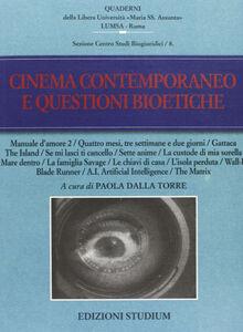 Libro Cinema contemporaneo e questioni bioetiche