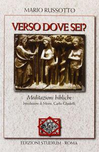 Foto Cover di Verso dove sei? Meditazioni bibliche, Libro di Mario Russotto, edito da Studium