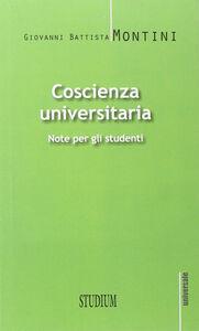 Foto Cover di Coscienza universitaria. Note per gli studenti, Libro di Paolo VI, edito da Studium