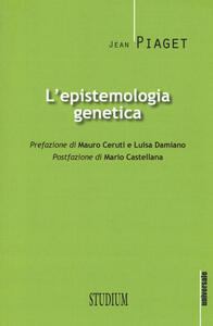 L' epistemologia genetica