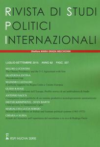 Rivista di studi politici internazionali (2015). Vol. 3