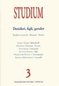 Studium (2016). Vol. 3: Gender, figli, desideri.