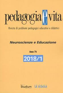 Voluntariadobaleares2014.es Pedagogia e vita (2018). Vol. 1: Neuroscienze e educazione. Image