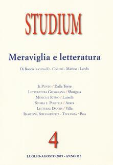 Studium (2019). Vol. 4: Meraviglia e letteratura..pdf