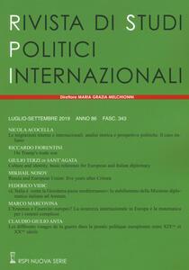 Libro Rivista di studi politici internazionali (2019). Vol. 3